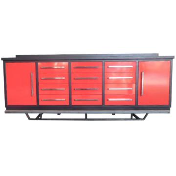 Banco de las ventas calientes del uso del garaje Banco de trabajo del metal con 2 gabinetes