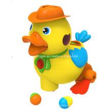 Juguete divertido del instrumento musical del patito amarillo