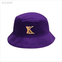 custom promotional short brim purple 5 panel embroidery high quality bucket hat