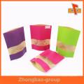 Impresión a todo color biodegradable Bolso de encargo de los bocadillos de papel de Kraft de Brown