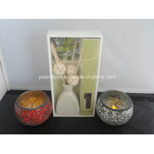 Aroma Reed Diffuser + Mosaic Candle Holder
