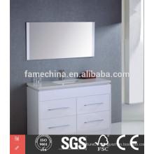 China cheap white MDF bathroom furniture