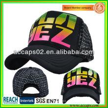 Printed Text Mesh Trucker cap Shenzhen