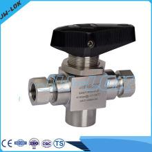 Robinet à boisseau sphérique à haute pression SS à haute pression en Chine