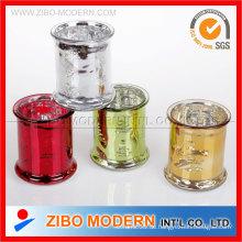 Farbe Glänzende Glas Kerzenständer