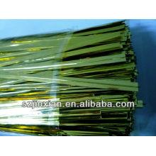 proporcionar papel de aluminio doble giro de lazos de alambre / banda de clip / cierre de bolsa