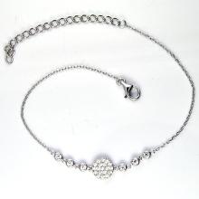 925 Silver Colored Cubic Zirconia Bracelets (K-1754. JPG)