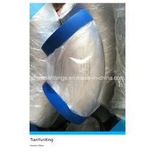 Нержавеющая сталь ASME с бесшовным коленом 45 градусов с пластмассовой крышкой