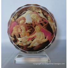 Marco de fotos de cristal girasol para decoración en el hogar y la oficina