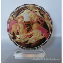 Quadro de foto de girassol de cristal para decoração em casa e escritório