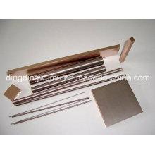 Électrode de barre de cuivre de tungstène pour l'EDM