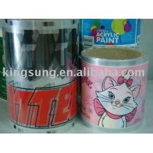 Etiqueta de transferência de calor, filme, decalque para produtos de plástico, vidro, PE, metal