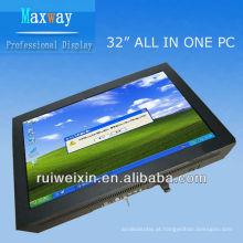 32 polegadas touch screen pc tv tudo em um processador D525 1.8G