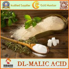 Blanco o casi blanco 99% Dl-Ácido málico para la categoría alimenticia