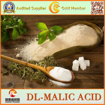 White or Nearly White 99% Dl-Malic Acid for Food Grade