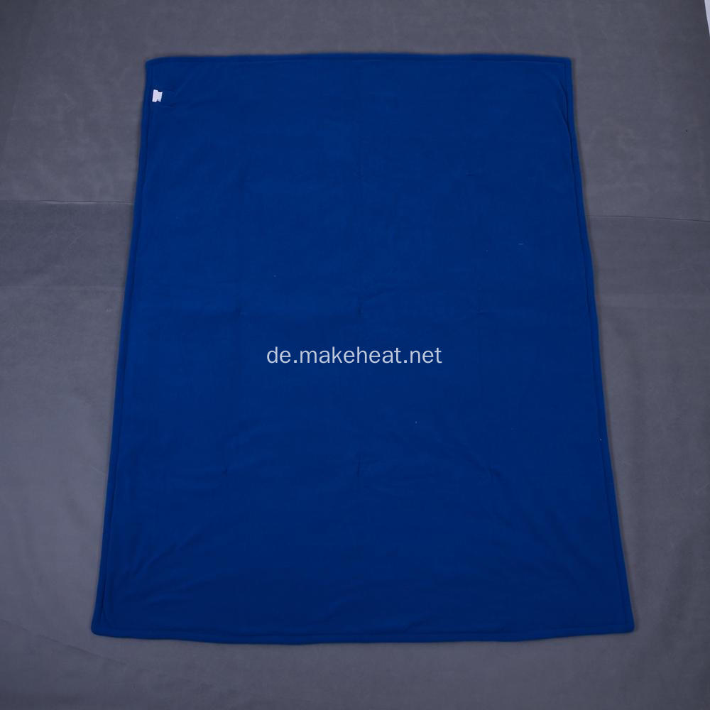 Polar-Fleece blau Heizdecke