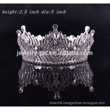 girls hair accessories full round rhinestone tiara crown for angel