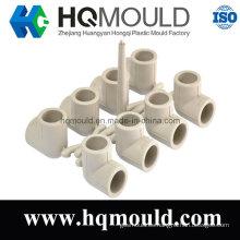 Inyección de plástico de 90 grados del codo tubería molde