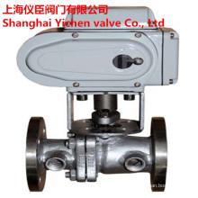 Vanne à tournant sphérique d'isolation de robinet à tournant sphérique d'acier inoxydable de veste électrique de vapeur