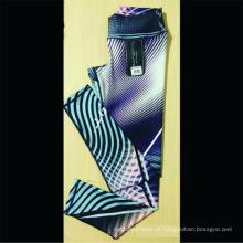 Calças de Yoga de alta cintura impressa com logotipo personalizado