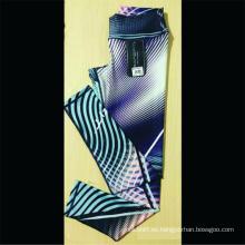Pantalones de yoga de cintura alta con logotipo impreso personalizado