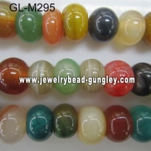 Abacus shape agate bead-mixed color
