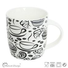 Tasse de café conception nouvelle tasse de porcelaine osseuse