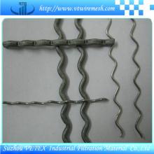 Treillis métallique carré serti utilisé dans la route