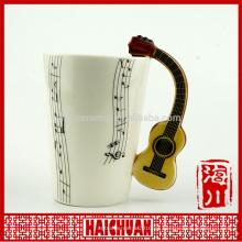Taza 3d de cerámica musical