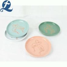 Best selling kitchen flamingo restaurant dinner plate