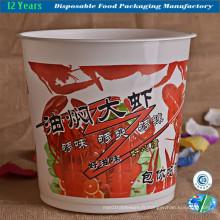 Bol en plastique jetable pour les plats à emporter