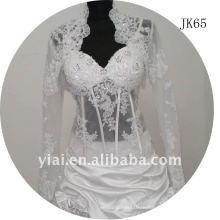 JK65 женщин из бисера с длинным рукавом свадебное куртка