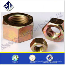made in China high tensile yellow galvanized hex nut