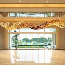 Large new design creative long crystal chandelier pendant