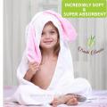 Serviette bébé en bambou bio à capuchonProduits doux et durables PremiumTowels Peaux sensibles à séchage rapide | BestShower cadeau pour fille