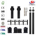 Hook Hardware Black Rolling Door Hardware Kit