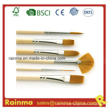 High Quality Artist Paint Brush with Nylon Hair Head
