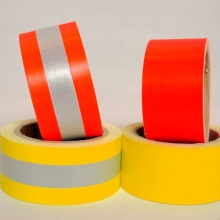 Discount Price Pet Film for Aramid Flame Retardant Reflective Fabric EN469 Cotton Yellow/Orange Warning Tape Flame Reflective supply to Lesotho Suppliers
