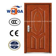 Casa caliente de la venta del exterior MDF Puerta blindada de madera de acero (W-B2)