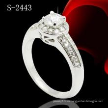 Joyería de la CZ para el anillo del anillo de las mujeres del micr3ofono (S-2443)