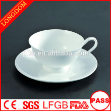P&T chaozhou factory bone China tea cup and saucer white, coffee cup and saucer