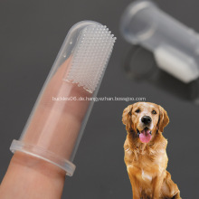 Pet Finger Zahnbürste Silikon Transparente weiche Bürste