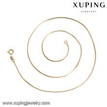 41955 Promover o preço de alta qualidade simples design de moda jóias 18 k cor de ouro correntes de cobre de ambiente