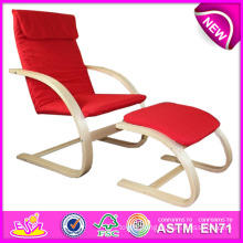 Modern Upholstered Wood Relaxing Chair, Cheap Bentwood Relax Chair, Bentwood Relax Chair Ikea Model with Cotton W08f025