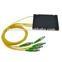 Módulo del ABS del divisor de fibra óptica de 1 * 4 ST APC, orden al por mayor de la orden del divisor del plc de la caja