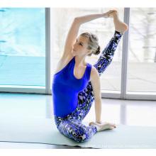 Filles portant des pantalons de yoga Spandex en nylon, vente en gros de vêtements de yoga, nouvelles jambières de dames de modèle