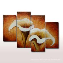 Pintura al óleo hecha a mano del tulipán de la venta caliente para la sala de estar
