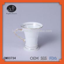 2015 Nueva taza de café de cerámica del diseño, tazas de café impresas aduana, a granel