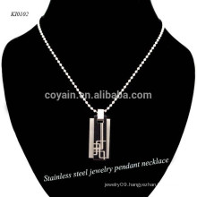 Two Tone Stainless Steel Men's Necklace Pendant For Party