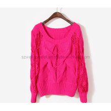 Fashion Big Cable Heavy Knit Pullover Sweater (SZWA-0904)